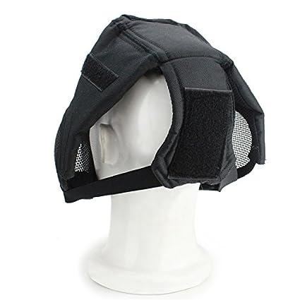haoyk Tactical Airsoft Acero neto malla de jardín Cosplay máscara funda completa cara protección militar Paintball máscara, negro: Amazon.es: Deportes y ...