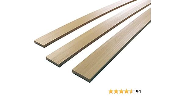 5 unidades - somier de lamas de madera de haya, 55mm x 8mm x 915mm
