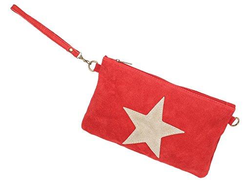 scarlet bijoux - Clutch rot 28 x 19 x 1 cm (B x H x T)