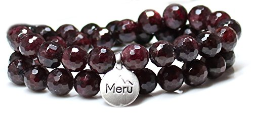 MeruBeads Small Size - Faceted Garnet Wrap Bracelet for Women - Garnet Bracelet - Garnet Faceted Bracelet for Women