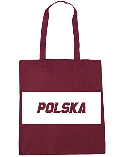 HippoWarehouse polska relleno caja bolsa de la compra bolsa de playa 42cm x38cm, 10litros granate