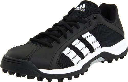(adidas Men's Turf Hog Le Low Football Cleat,Black/Run White/Meticall Silver,9 M)
