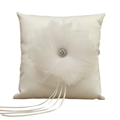 Jamie Lynn Wedding Accessories Ring Pillow, Chloe, Ivory