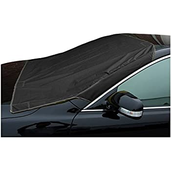 snowoff car windshield snow ice cover sun shade protector windproof straps. Black Bedroom Furniture Sets. Home Design Ideas