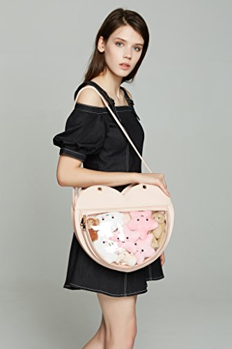 Crossbody Backpacks Love Lolita Purse Handbag Ita Transparent Bags Leather Red Shape Kawaii Candy Watermelon Clear Bag Heart q0CYwv0