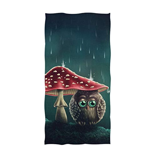 wl Shelter Under Mushrooms Soft Bath Towel Highly Absorbent Large Hand Towels Multipurpose for Bathroom, Hotel, Gym and Spa (16
