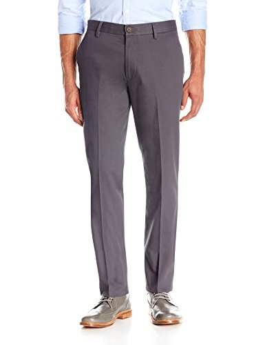 Goodthreads Men's Slim-Fit Wrinkle-Free Dress Chino Pant, Grey, 29W x (Cotton Dress Chino)