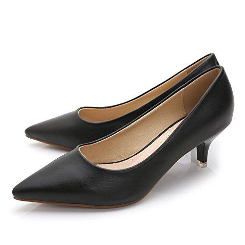 2914d40abdd7d Kenavinca 34-43 Woman Shoes Genuine Leather Inside Low Heels Women ...