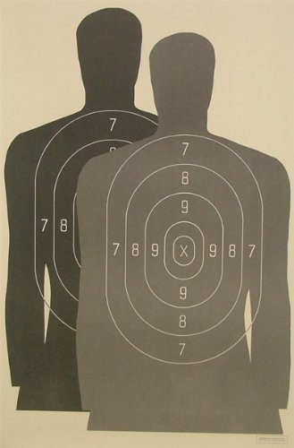 (100) Hostage Paper Shooting Targets Silhouette 23