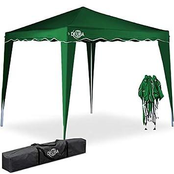 Deuba Tonnelle tente de jardin 3x3 m pavillon réception pliable vert + Sac  de transport