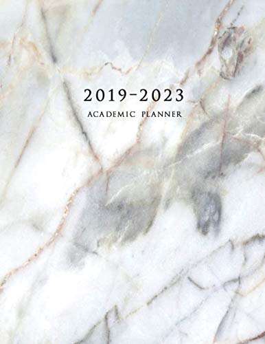 2019-2023 Academic Planner: Four Year Academic Planner 8.5 x 11 with Inspirational Quotes and Marble Cover, Volume 2 (July 2019 - June 2023) (Best Planners For College Students 2019)