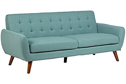 Porter Designs SWU6918 Sitswell Daphne Mid-Century Modern Sofa, Teal,
