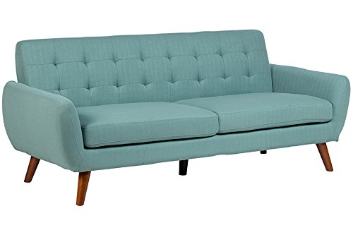 Porter Designs SWU6918 Sitswell Daphne Mid-Century Modern Sofa, Teal, (Best Priced Mid Size Truck)