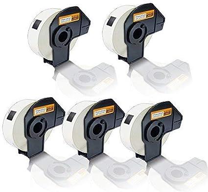 5x Compatibile Etiketten-Rollen per Brother P-Touch DK-11208 P-Touch QL500 P-Touch QL500A P-Touch QL500BS P-Touch QL500BW DK11208 Dk 11208 38x90mm Ufficio Serie Pro