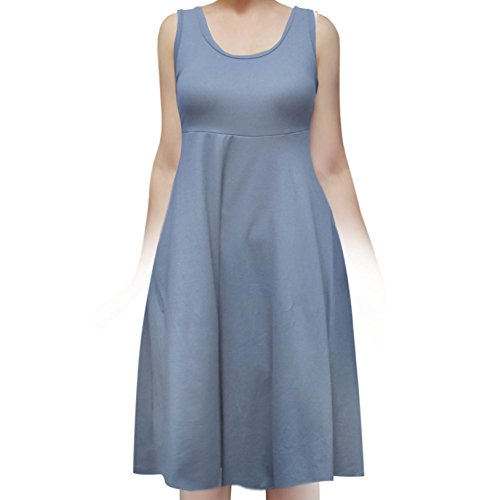Summer Dress Jeans - SMT Women's Sleeveless Flowy Midi Summer Beach A Line Tank Dress Denim 2X