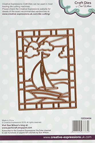 Creative Expressions CED24004 Stained Glass Collection Sail Boat -