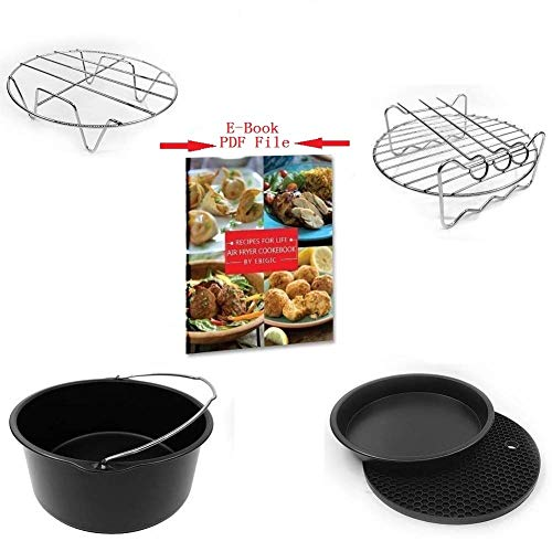 Air Fryer Accessories 7 Inch 5 Pcs FDA Certification Apply all Brands of Air Fryers 3.7QT to 5.8QT