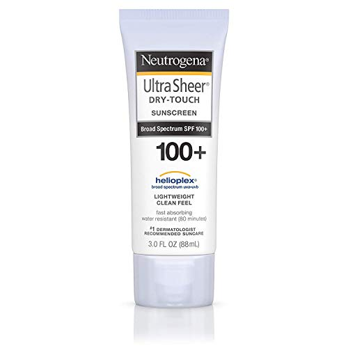 Ultra Sheer Dry-Touch Water Resistant and Non-Greasy Sunscreen Lotion with Broad Spectrum SPF 100 , 3 fl. oz 2 pack
