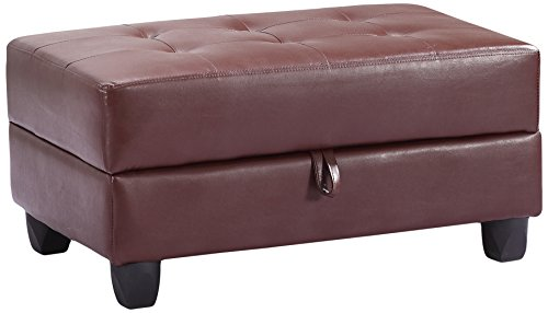 Glory Furniture G300-O Storage Ottoman, Brown