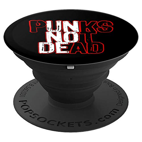 Punks Not Dead Punk Rock Music - PopSockets Grip and Stand for Phones and Tablets ()