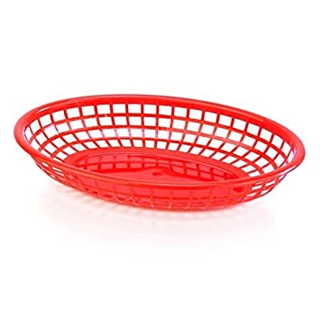 [9inch] 6 platos y platos Sets Oval plástico Bandeja para servir, comida rápida