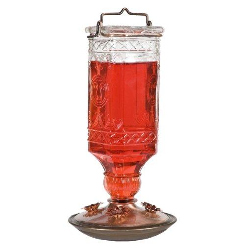 Perky-Pet 8118-2 Glass Antique Bottle Hummingbird Feeder, Clear