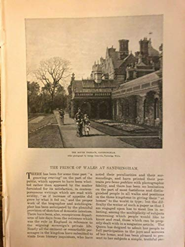 1885 England Prince of Wales at Sandringham Princess of Wales illustrated