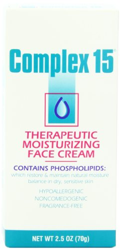 Complex 15 Therapeutic Moisturizing Face Cream - 2.5 oz (Pack of 3) by Complex 15