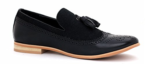 Hombre Inteligentes Vestido De La Manera Sin Cierres Mocasines Con Borlas Casual Oficina zapatos número GB Negro