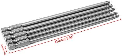 Rongzou-Schraubendreher-Bohrer - 5 Teile/Satz 150mm T10-T30 Langer Magnetischer Torx-Elektrosatz