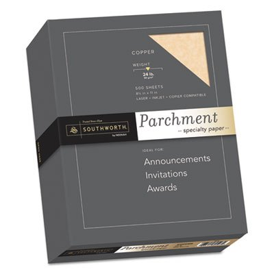 Parchment Specialty Paper, Copper, 24lb, 8 1/2 x 11, 500 Sheets Southworth
