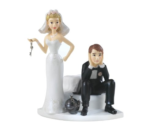 Wilton Ball and Chain Humorous Cake Topper (Casual Wedding Cake Topper)