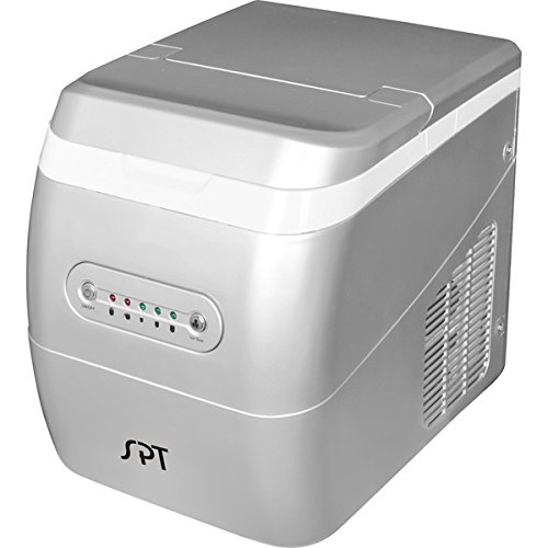 SPT Silver Portable Ice Maker | Removable Ice Basket - Plastic