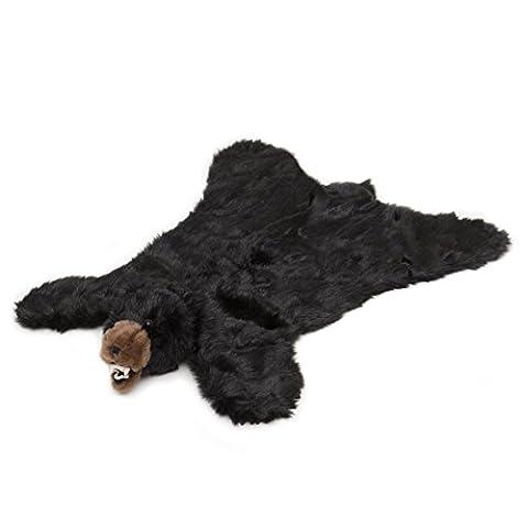 Carstens Plush Black Bear Animal Rug, Small (Rugged Bear Plush)