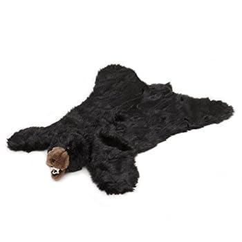 Image of Carstens Plush Black Bear Animal Rug, Large