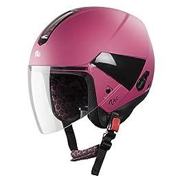 Steelbird Hi-Gn SBH-5 VIC Open Face Helmet with Plain Visor (Female, Matt Magenta, S)