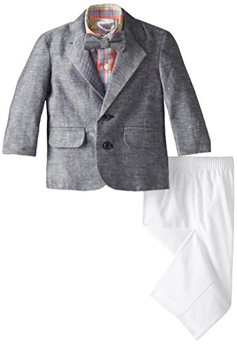 Nautica Baby Boys' Linen Twill Duo Set, Navy, 24 Months ()