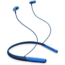 JBL Live 200 BT Wireless in-Ear Neckband Headphones with Three-Button Remote and Microphone (Blue)