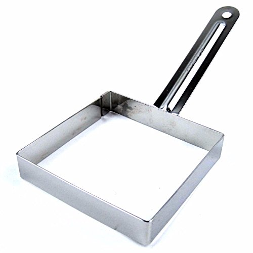 Steel Square Egg Frying Mold Cooking Tools Toast Decorating Tool Sandwich 4.1