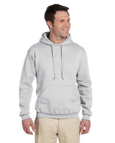 Jerzees Super Sweats NuBlend Pullover Hood Sweatshirt-M (Ash) - Jerzees 4997 Hoodie Sweatshirt