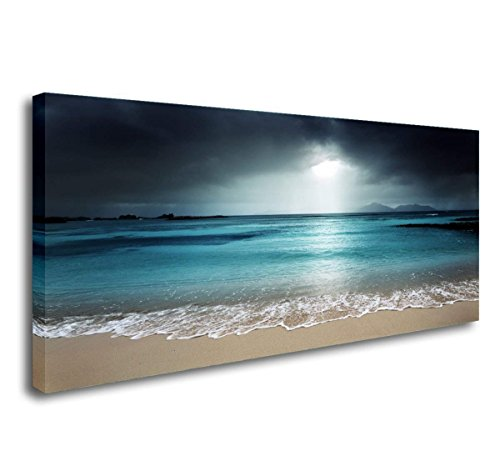 - SkywardArt Seascape Giclee Canvas Prints Landscape Pictures Paintings on Modern Stretched and Framed Canvas Wall Art Sea Beach Pictures Artwork for Home Decor