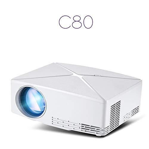 (KUNAW C80 1080P Full HD Mini Projector LED Multimedia Home Theater AV USB US)