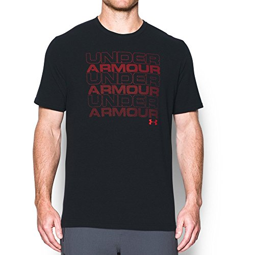 Under Armour Men's Keep Stacking WM T-Shirt,Black (001)/Red, X-Large