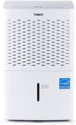 TOSOT 3,000 Sq. Ft. 50 Pint Dehumidifier – Energy Star, Quiet, Portable with Wheels, and Continuous Gravity Drain – Efficiently Removes Moisture for Home, Basement, Bedroom or Bathroom