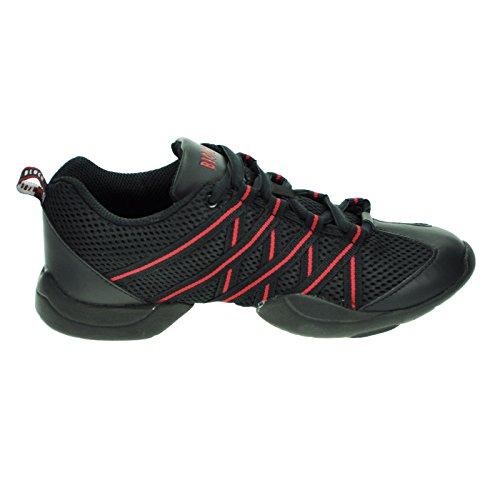 BlochCriss Cross - Zapatos de Jazz chica Rojo - rojo