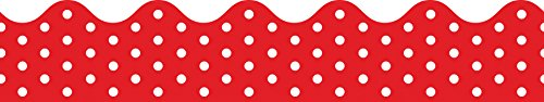 Carson-Dellosa Red and White Dots Border (108219)
