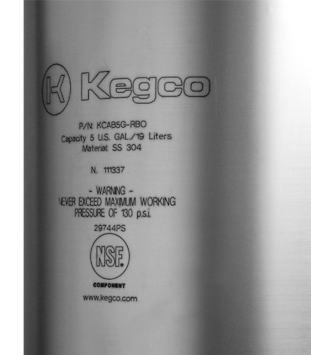 Kegco KC Ick-5RB New Coffee Keg, Clear