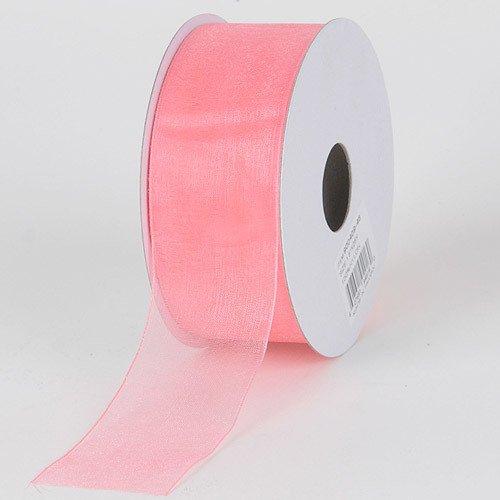 (BBCrafts 7/8 inch x 25 Yards Sheer Organza Ribbon Decoration Wedding Party (Peach))