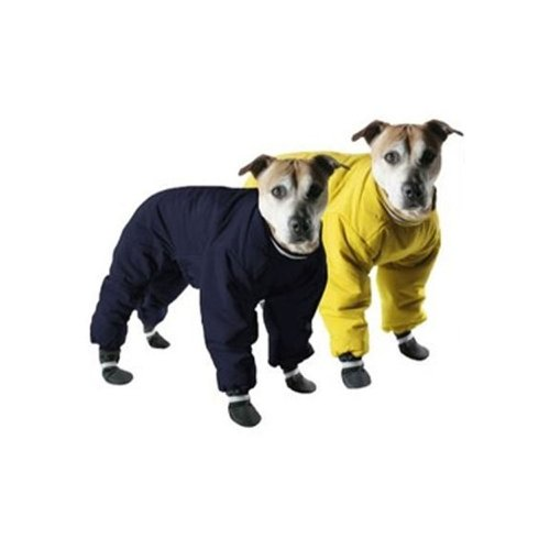 Muttluks Four Legged Nylon Reversible Dog Snow Suit, Size 16, Yellow/Black