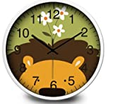 "12"" Silent Children Kids Wall Clock - Lion King"
